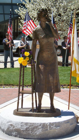 The New England Gold Star Mothers Statue on Dedication Day - May 1, 2011
